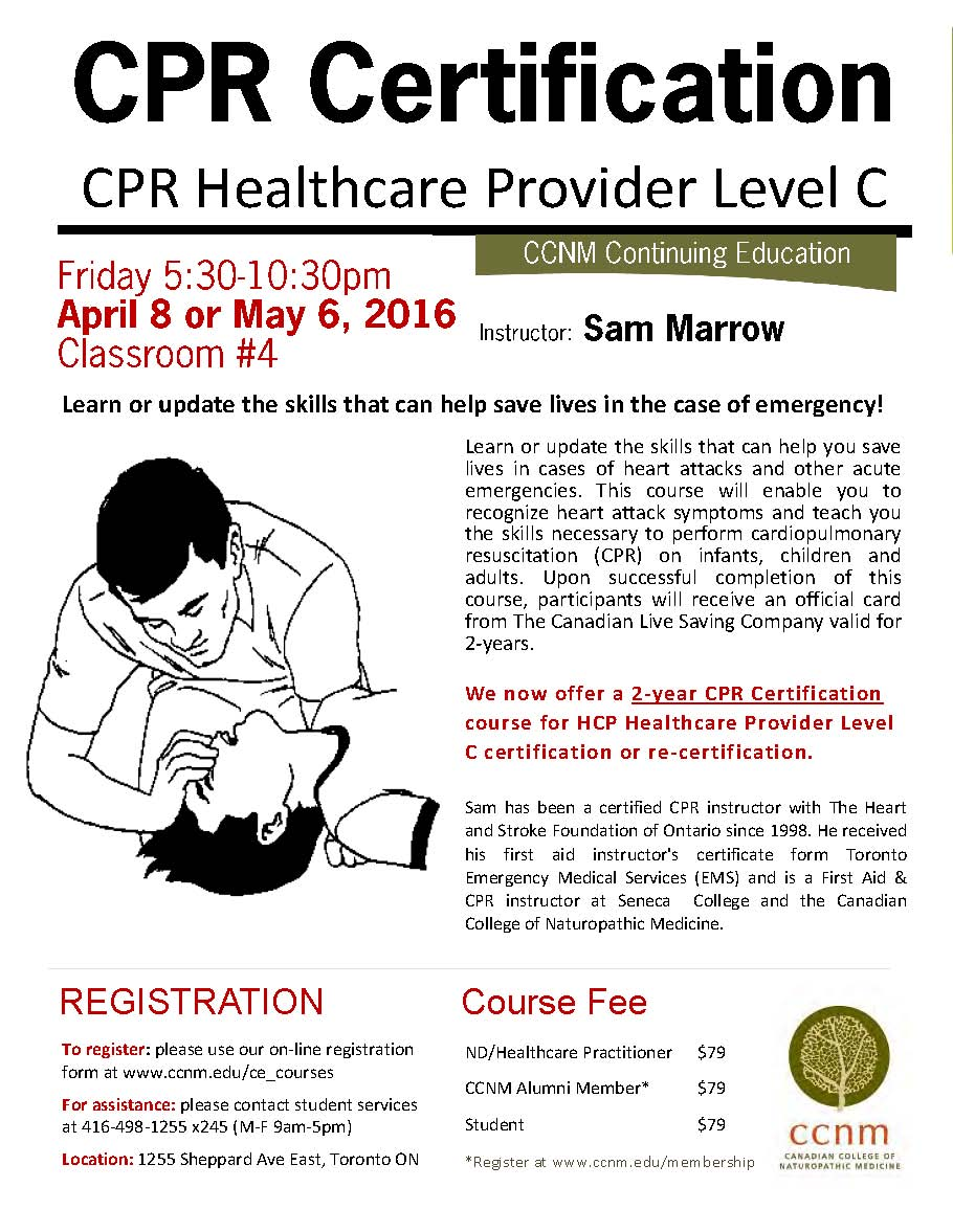 Cpr Healthcare Provider Level C April 8 2016 The Canadian